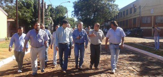 Posadas: quedó inaugurada la obra de empedrado y saneamiento en la avenida Eva Perón en Villa Cabello