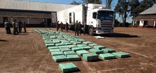 Santo Tomé: interceptan un camión que había partido de Posadas con alrededor de cuatro toneladas de marihuana
