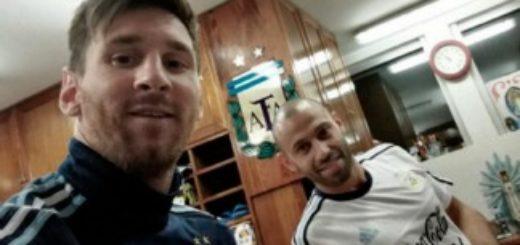 Messi y Mascherano arribaron a la Argentina para entrenar con la selección