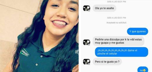 Luego de golpearla y robarle el celular, el ladrón le mandó una mensaje para conquistarla