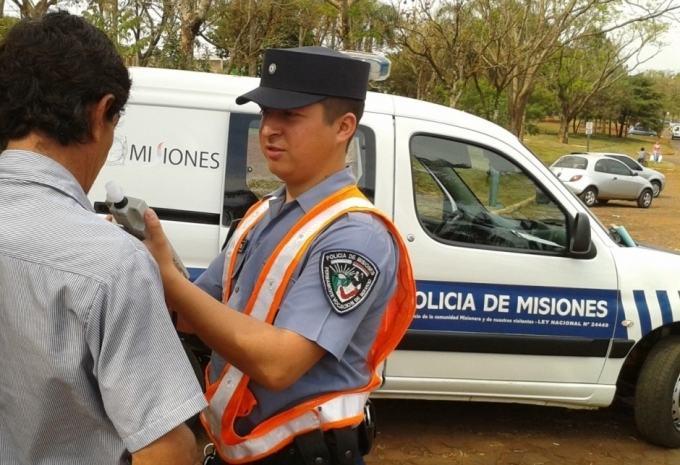 Retuvieron 61 licencias en controles viales realizado en Misiones el pasado fin de semana