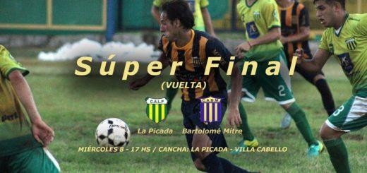 La Picada y Mitre buscarán mañana el título de la Súperfinal de la Liga Posadeña de Fútbol