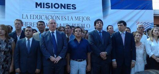 El Gobernador Hugo Passalacqua dejó formalmente inaugurado el ciclo lectivo 2017 en Misiones