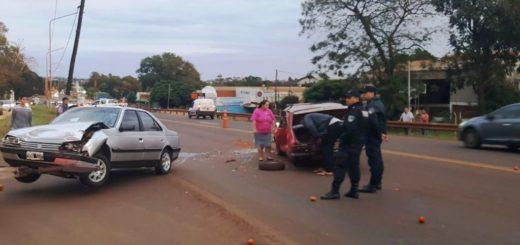 Mañana accidentada en Posadas: un hombre resultó herido y otro halló su camioneta chocada