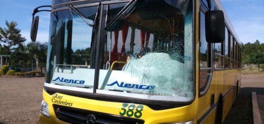 Dos colectivos que trasladaban niños a Tecnópolis fueron atacados a piedrazos