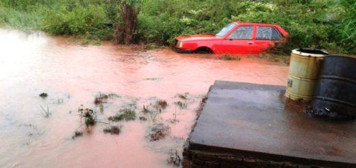 Cerca de un centenar de evacuados en Oberá tras el temporal de intensa lluvia