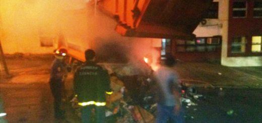Un camión de la Municipalidad de Posadas se prendió fuego mientras hacía recolectaba la basura