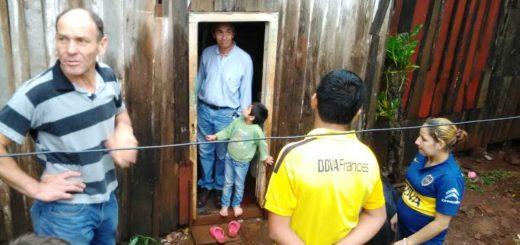 El municipio de Oberá asistió a los vecinos damnificados por la lluvia