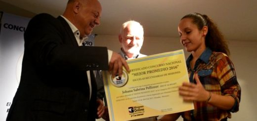 Beca UNaM: Johana Sabrina Pellizzer es por tercera vez ganadora Mejor Promedio de Secundarias de Misiones