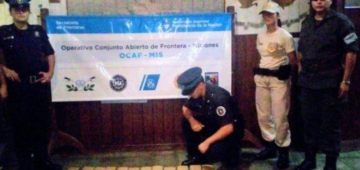 Dos detenidos y secuestro de más de 20 kilos de marihuana  y cocaína en Iguazú