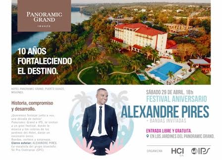 Alexandre Pires te invita a su show en Misiones el 29 de Abril
