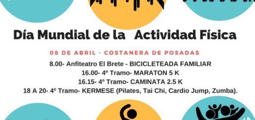 El 8 de abril realizarán una jornada por el Día Mundial de la Actividad Física