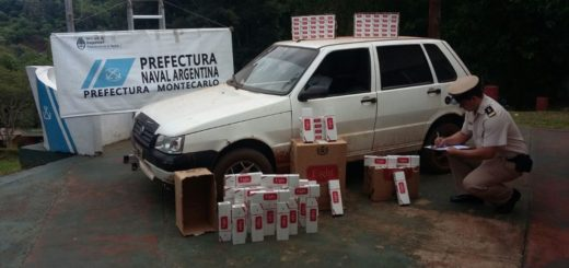 Prefectura incautó 1470 atados de cigarrillos en Montecarlo