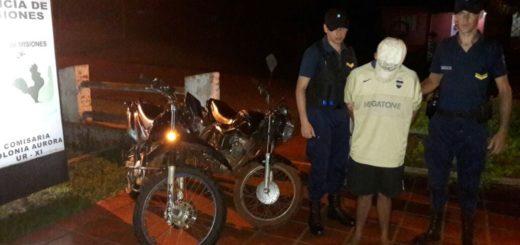 Recuperaron en Colonia Aurora motocicletas robadas en San Vicente
