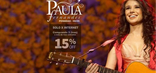 Paula Fernandes en Posadas: Tenés 15% de descuento si adquirís tres o más entradas a través de Compras Misiones y los diez primeros se llevan un CD