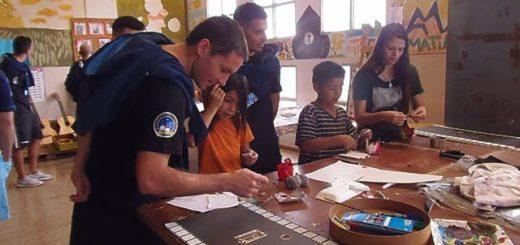 La Selección Argentina de Fútbol de Salón visitó el Hogar de Día y compartió actividades con los chicos
