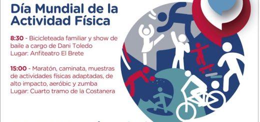 Mañana se conmemorará el Día Mundial de la Actividad Física en la Costanera