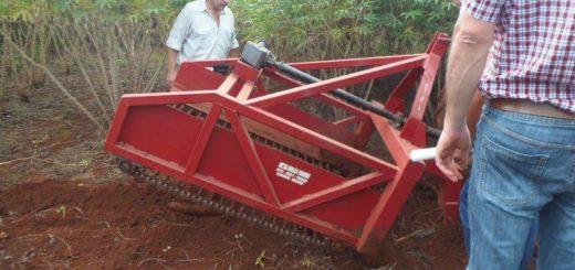 Presentaron conclusiones de proyectos del Clúster de la Mandioca Misionera y un prototipo de la máquina cosechadora