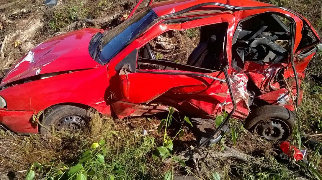 Vuelco sobre ruta 14 dejó dos lesionados en Campo Grande