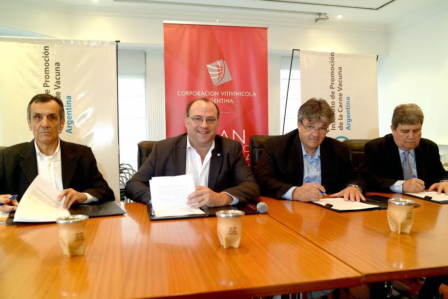 Convenio histórico de cooperación entre la yerba mate, la carne y el vino argentino
