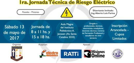 Alberto Farina dictará una conferencia en la Jornada Técnica sobre Riesgo Eléctrico en Posadas