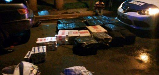 Tras una persecución interceptaron a una caravana de contrabandistas de cigarrillos en Posadas