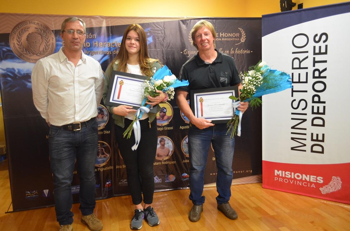 La nadadora Oriana Duarte recibió el premio Heracles 2016
