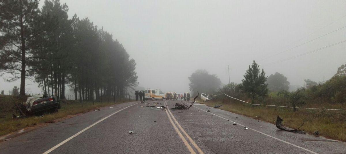 Una nena de diez años y su tío murieron en un choque frontal en la ruta provincial 4