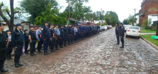 Megaoperativo policial en todos los barrios de Garupá