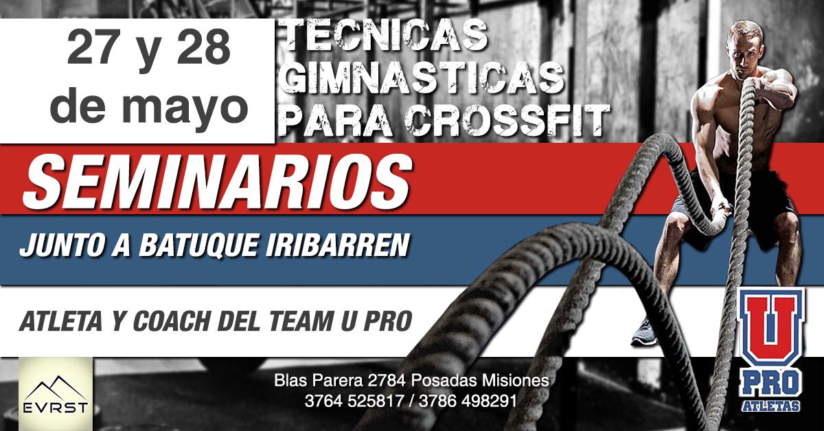 Con la presencia de «Batuque» Iribarren, la academia Everest realizará un seminario de CrossFit y podés conseguir tus entradas por Compras Misiones