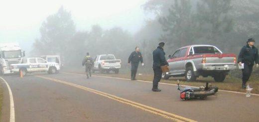 Motociclistas hospitalizados tras chocar con la parte trasera de un vehículo en la ruta 14