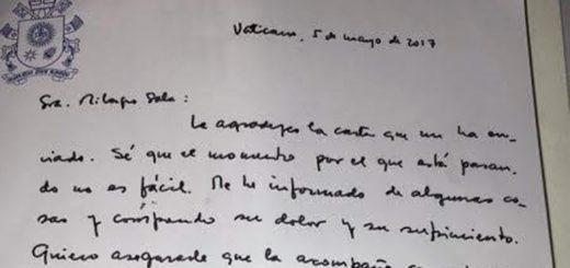 """El Papa Francisco le manifestó su """"acompañamiento"""" a Milagro Sala en una carta"""
