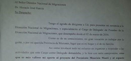 Finalmente Holz presentó su renuncia como delegado de Migraciones en Posadas