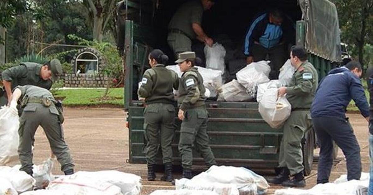 Santo Tomé: destruyen 4 toneladas de marihuana