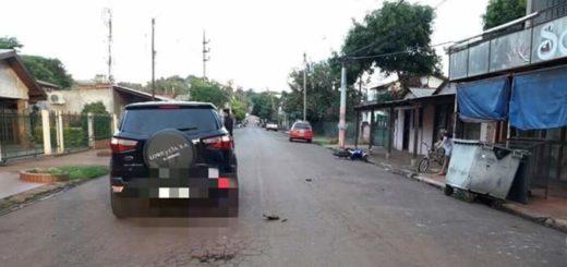 Motociclista muy grave tras un choque en Puerto Iguazú