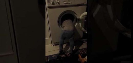 Pensó que sería gracioso meter a su hijo de 3 años en el lavarropas y tomarle una selfie para Facebook
