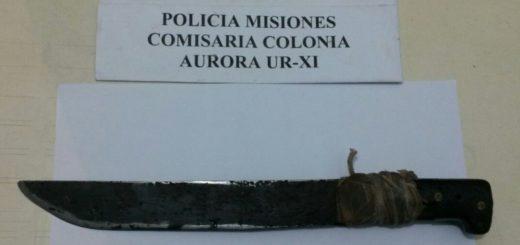 Ebrio, atacó a machetazos a su vecino en Colonia Aurora