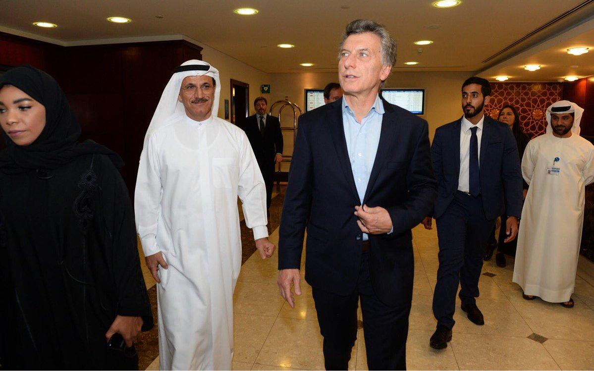 Macri está en Dubai y se reúne con el primer ministro local