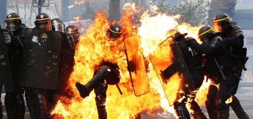 Fuertes enfrentamientos en una manifestación por el Día del Trabajador en París