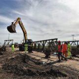 Se habilitó el tránsito sobre el puente Bailey ubicado sobre la ruta 12, que une Posadas y Corrientes