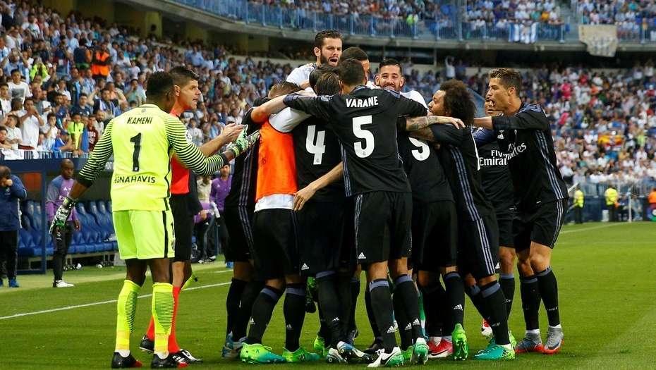 El Real Madrid derrotó al Málaga y se proclamó campeón de la liga española