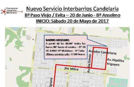 Ampliarán horarios y recorridos de colectivos interbarriales en Candelaria