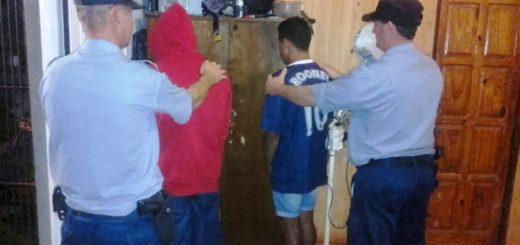 Detienen a dos personas por robo en operativo de prevención de delitos en 25 de Mayo
