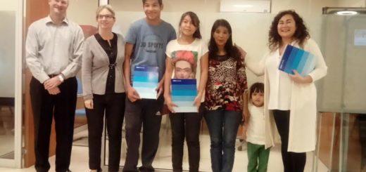 Tres participantes del Hogar de Día fueron becados por la Fundación Brazos Abiertos y el Banco Francés
