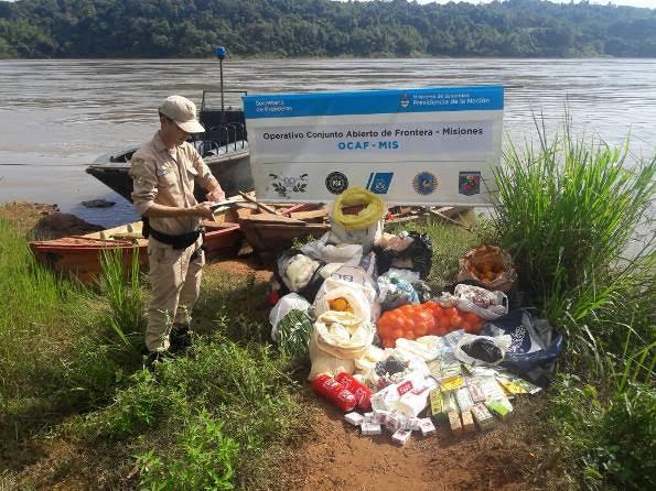 Prefectura secuestró medicamentos, cigarrillos y alimentos de origen ilegal en Eldorado
