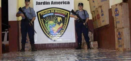 La Policía incautó mil gruesas de cigarrillos y un auto de alta gama tras espectacular persecución en Jardín América