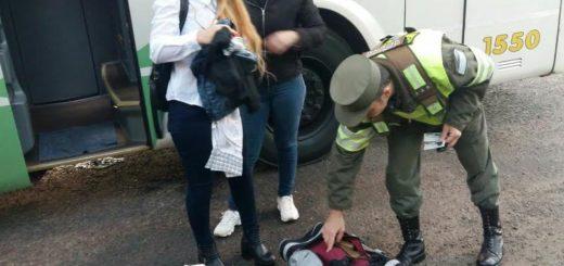 Gendarmería detuvo a dos mujeres que intentaban ingresar a Buenos Aires con 29 kilos de droga
