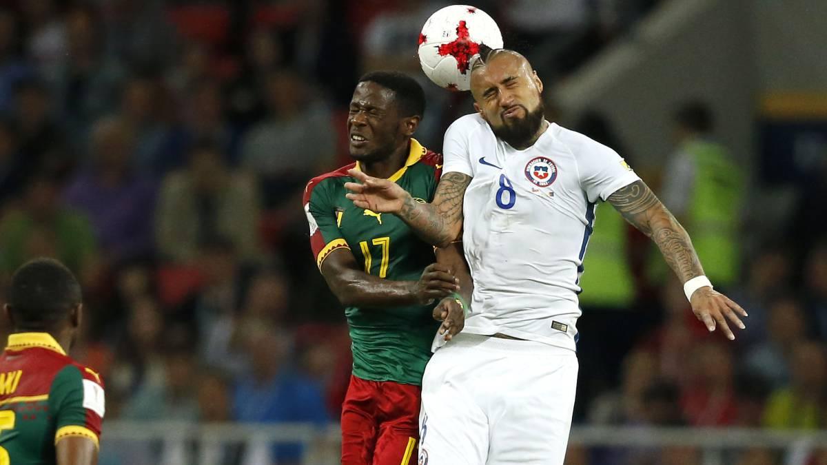 Chile superó a Camerún en su debut por Copa Confederaciones