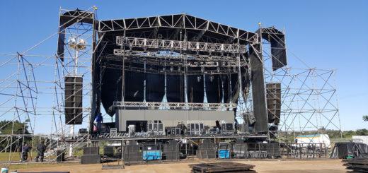 Todo listo para Nicky Jam: mirá cómo está quedando el escenario donde esta noche vas a vivir una mega fiesta de reggaetón
