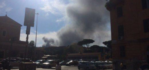 Explosión y humo en los alrededores del Vaticano